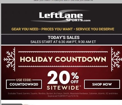 All Active LeftLane Sports Coupon Codes & Coupons - December 2018