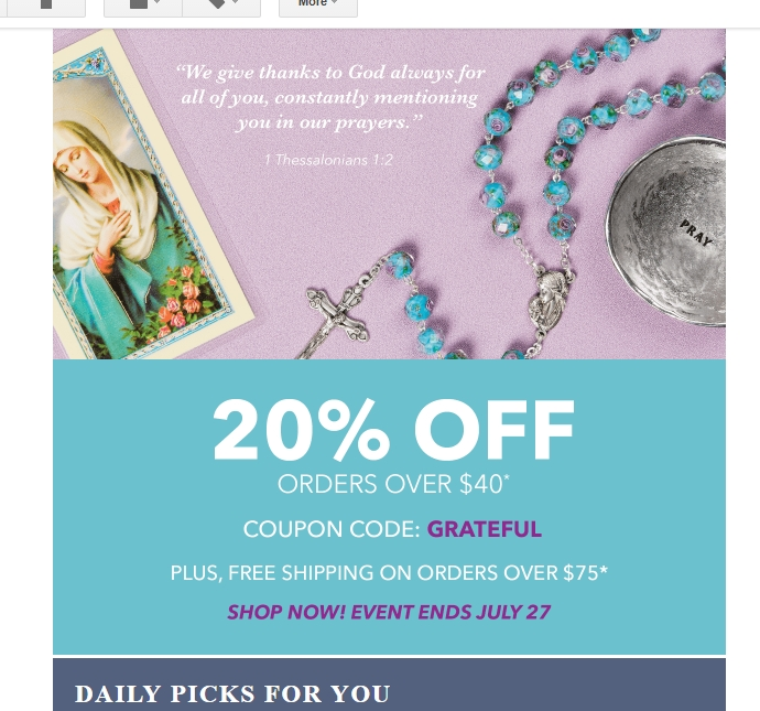 Discount catholic products coupon code