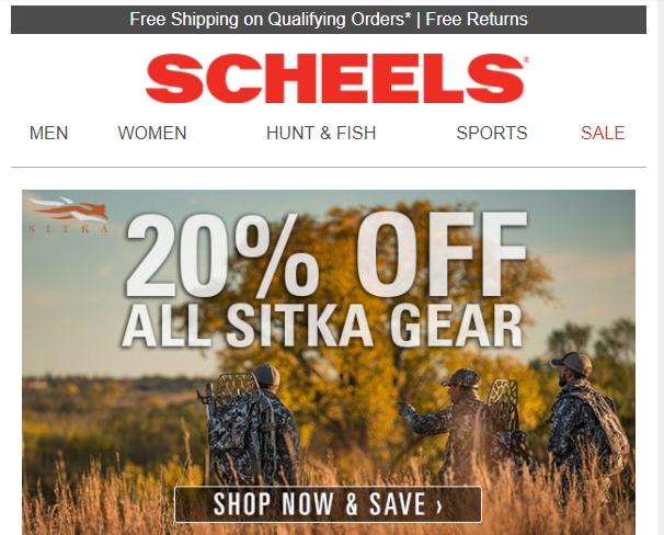 scheels discount code