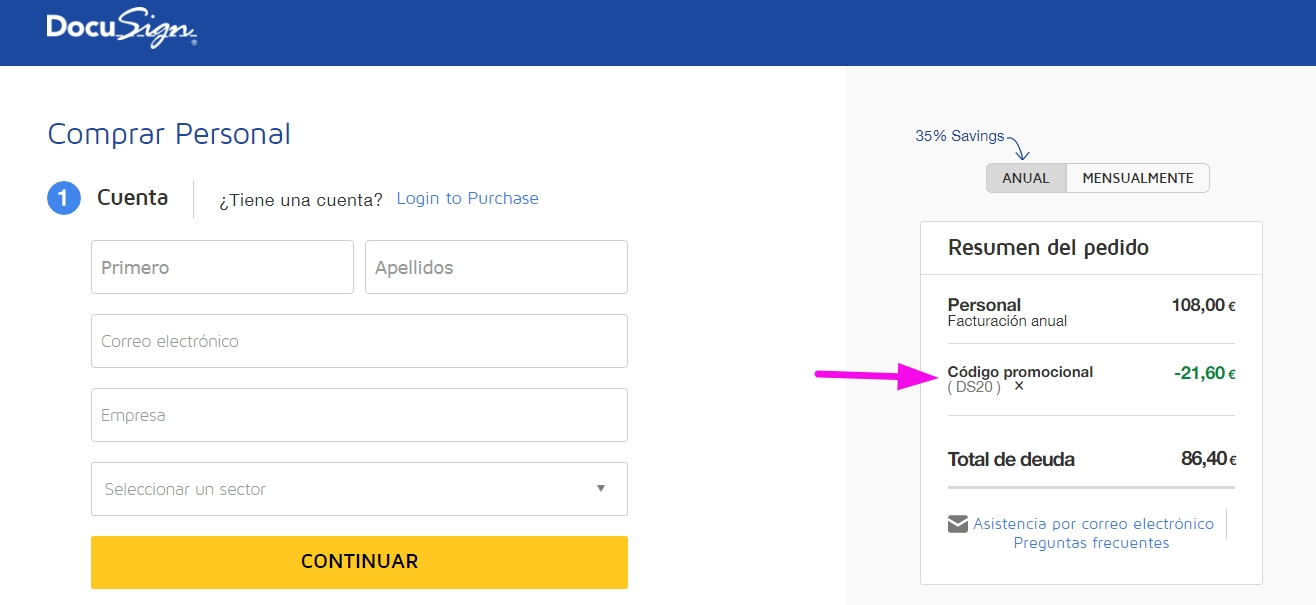 DocuSign is a program that allows you to scan and sign documents from any device. They have monthly subscription plans that vary in price and inclusions, but you can get a free trial of DocuSign via their official website. Additional offers and coupons from DocuSign can be found on their social media pages and at regey.cf