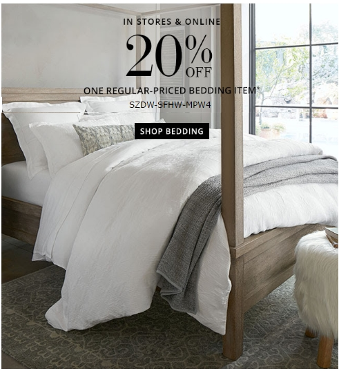 30% Off Pottery Barn Coupon Code