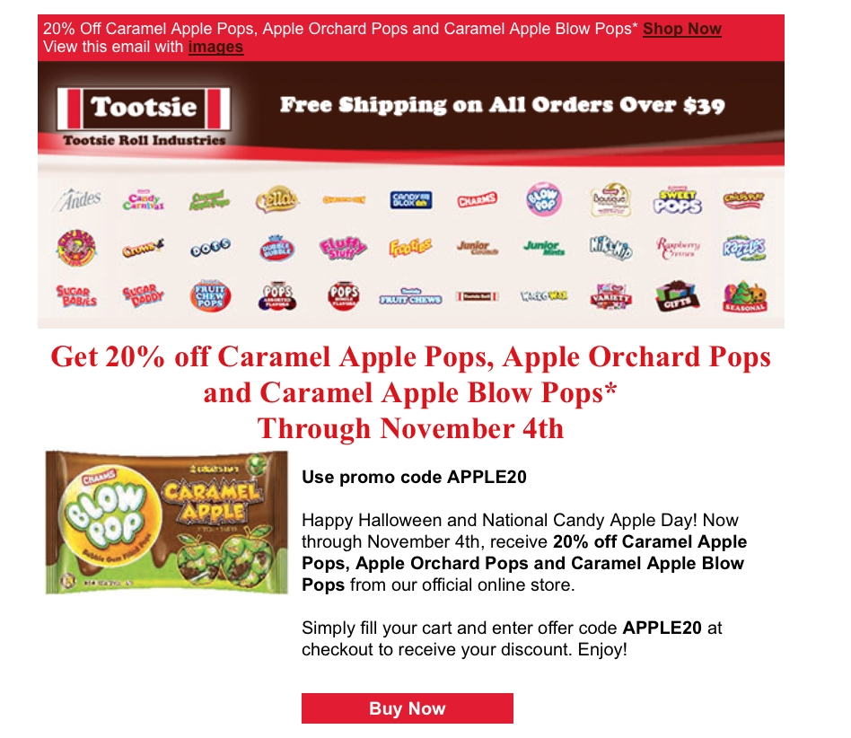 We have 33 tootsie coupons for you to consider including 33 promo codes and 0 deals in November Grab a free believed-entrepreneur.ml coupons and save money. This list will be continually update to bring you the latest Tootsie promo codes and free shipping deals, so you're sure to find an offer that applies to your order.5/5(1).