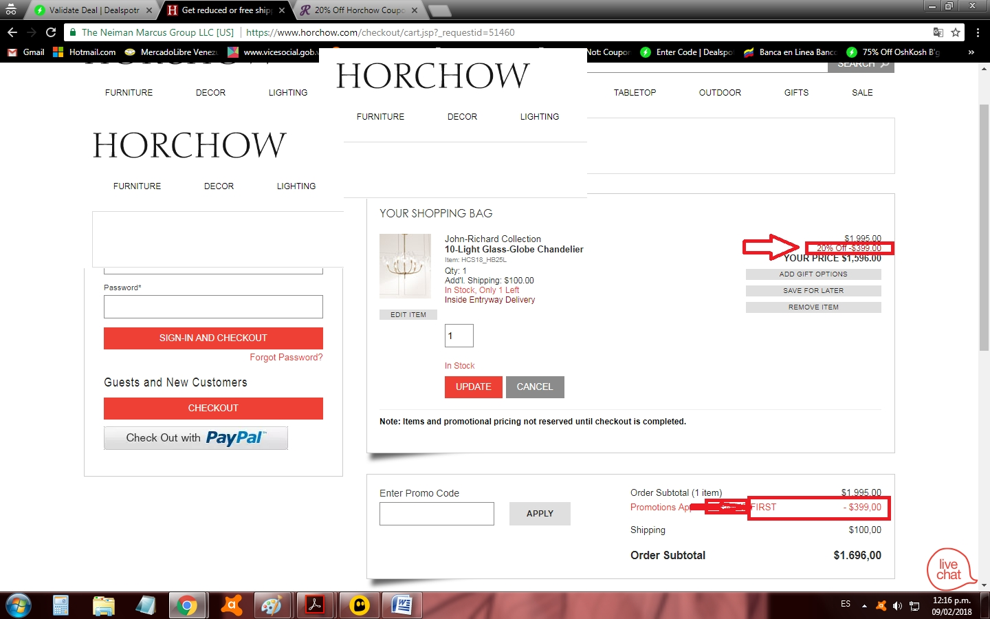 Horchow coupon code