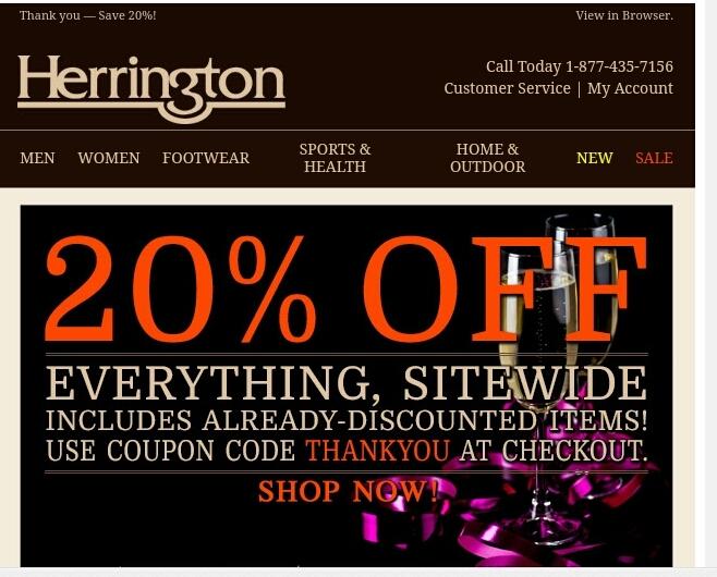 Herrington catalog coupons 2018