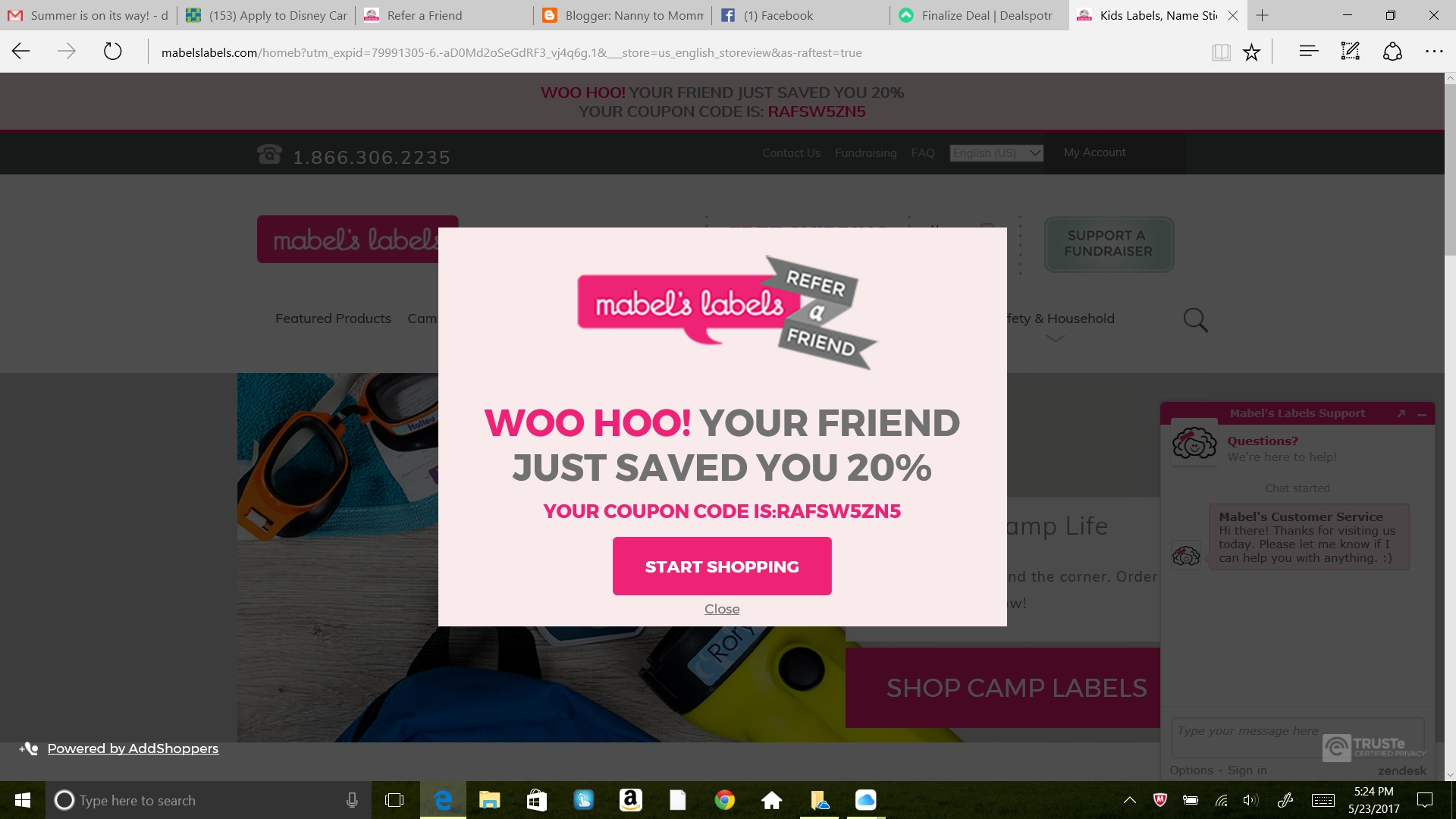 Mabel's Labels Coupons, Sales & Promo Codes. For Mabel's Labels coupon codes and deals, just follow this link to the website to browse their current offerings. And while you're there, sign up for emails to get alerts about discounts and more, right in your inbox. .