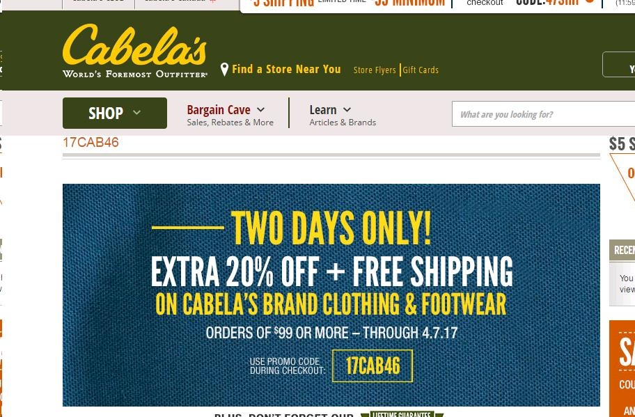 Cabelas coupons codes