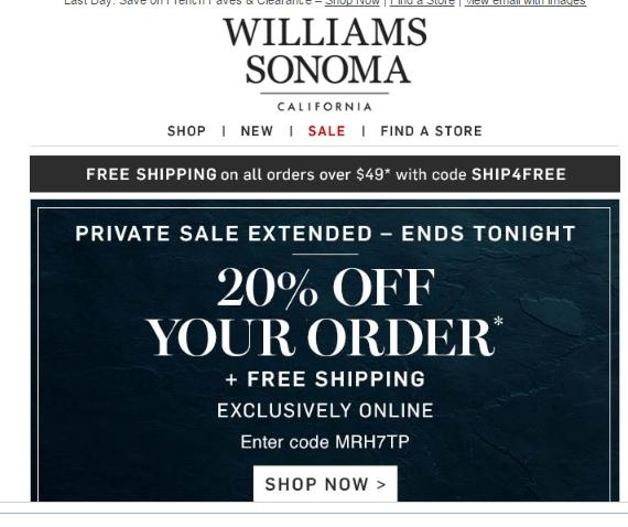 photograph regarding Williams Sonoma Coupons Printable titled William sonoma coupon codes 20 off : Coupon beautiful kitty