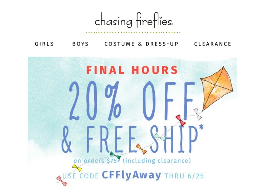Chasing fireflies coupon code
