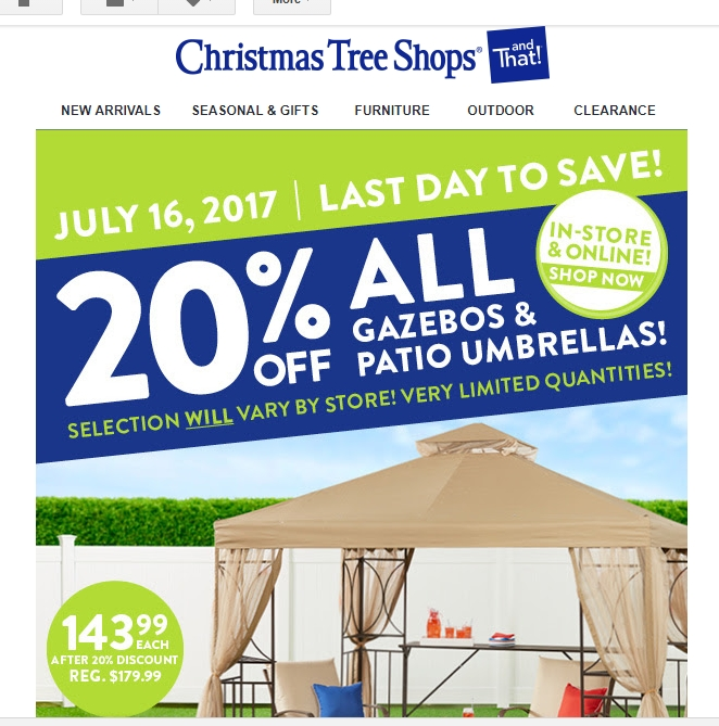 Christmas Tree Shop Coupons May 2018 Overstock Coupon 15