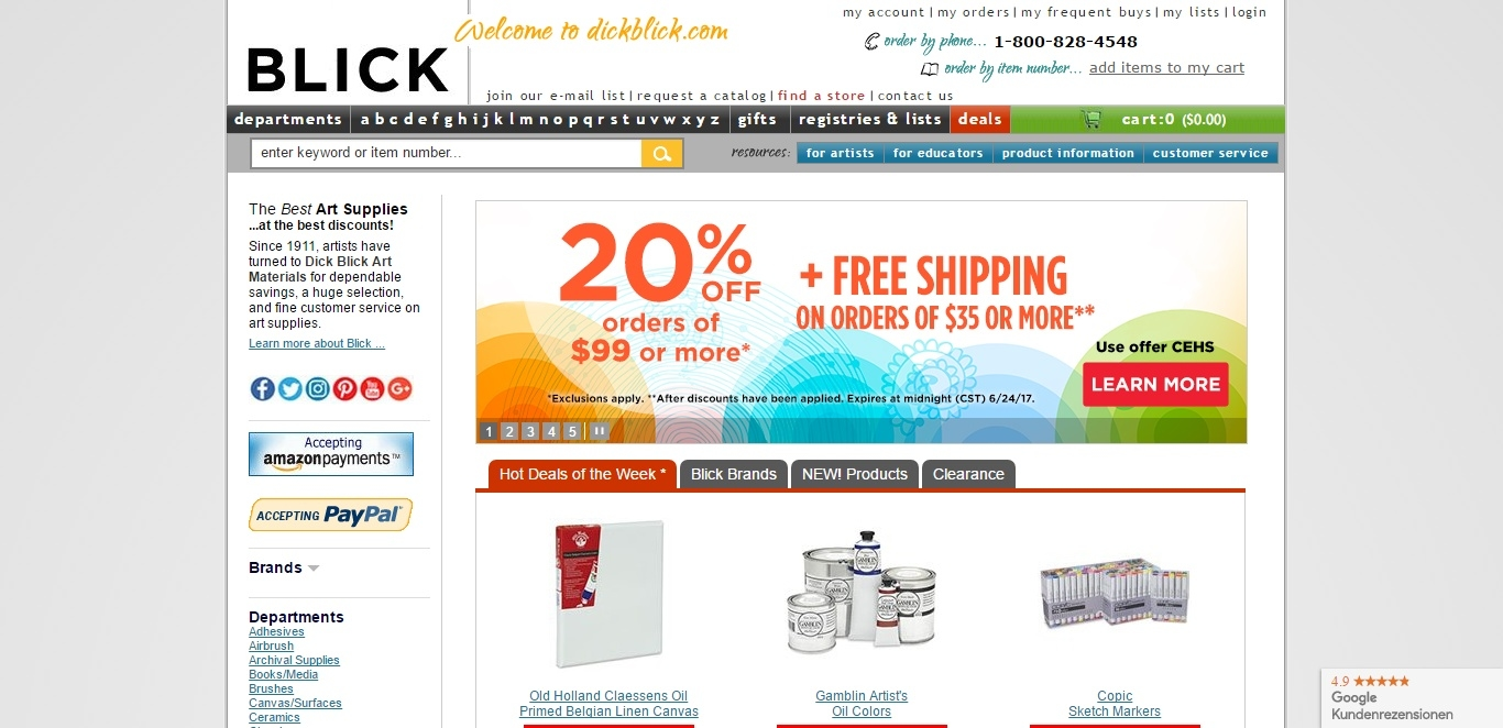 Dickblick com coupons