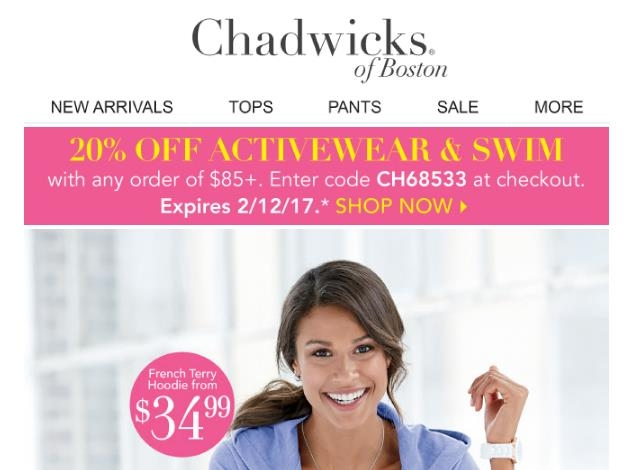 discount coupon for chadwicks