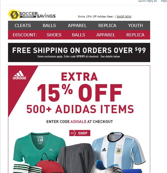 Soccer.com Secret Sale