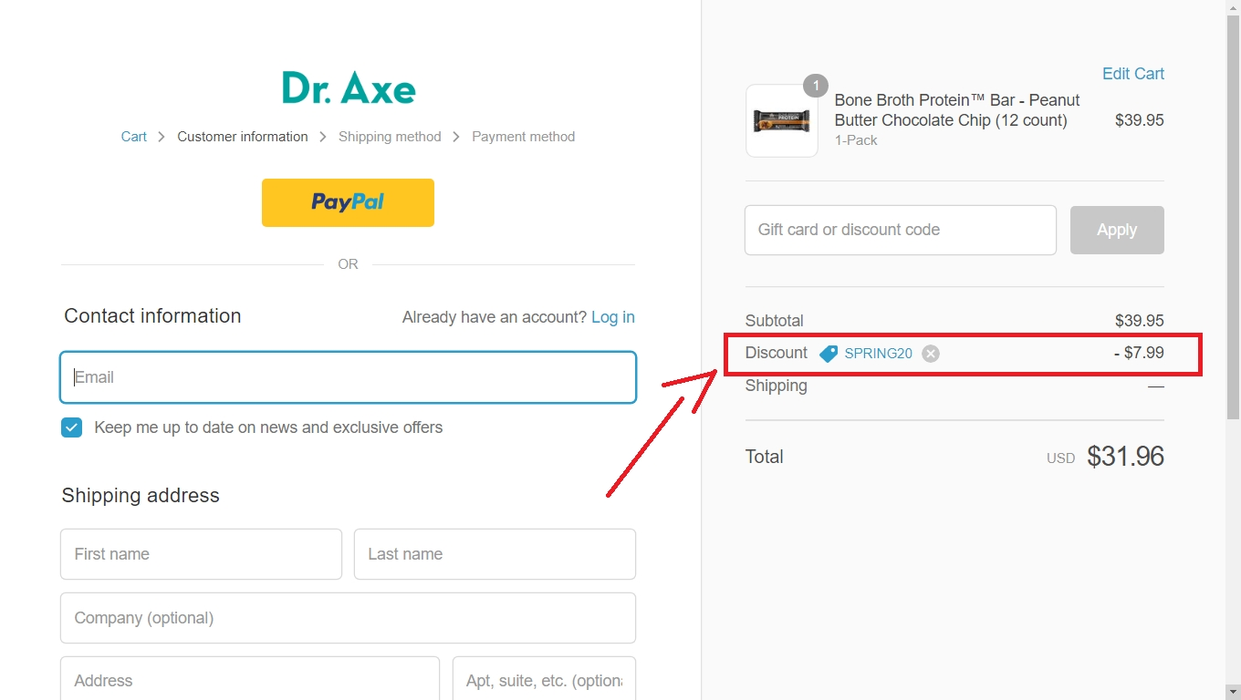 Dr axe coupon code