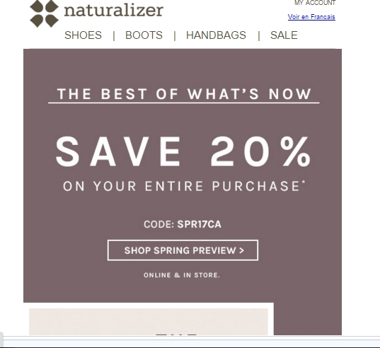 Naturalizer promo code will benefit you with huge back to school savings. Labor day sale: take 25% off sitewide + free shipping. This coupon expired on 09/05/ CST.5/5(7).