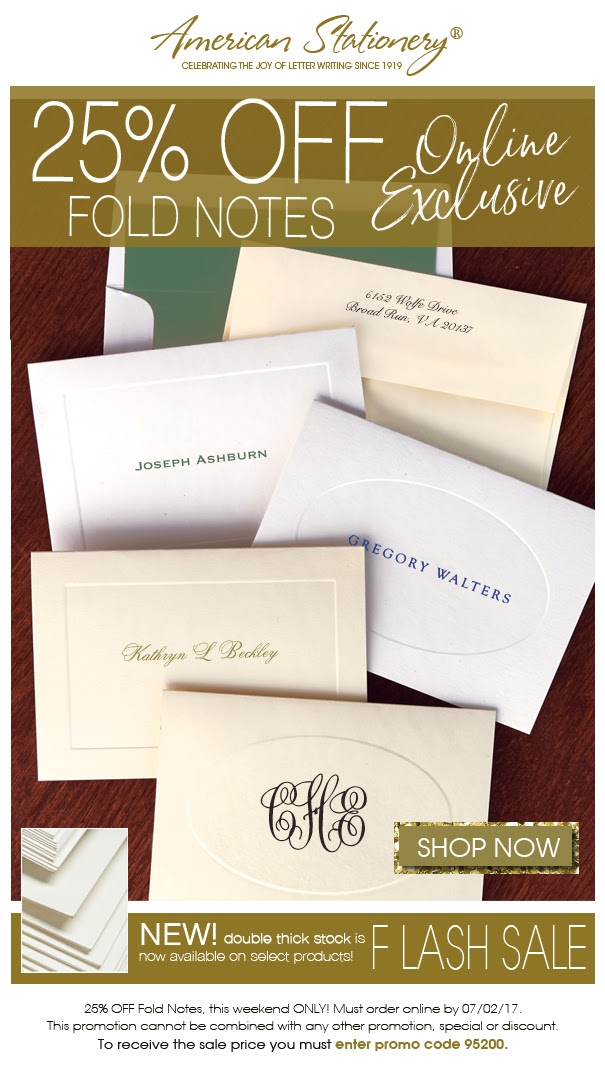 American stationery coupon code