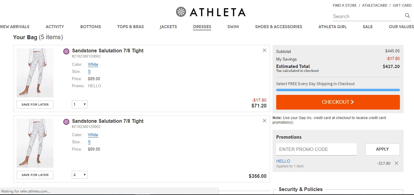 Athleta offers a great selection of women's yoga clothing, swimwear, running clothing and athletic clothing for fitness and sports. Refresh your workout routine with Cash Back at Ebates on stylish and comfortable sports apparel for women.