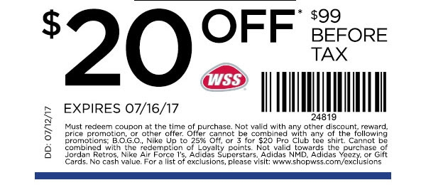 WSS Shoes Coupon Codes