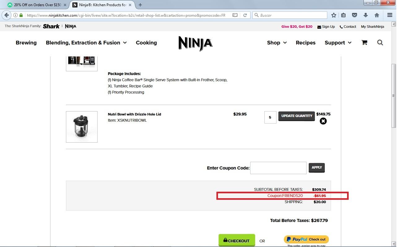 Ninja coupon code