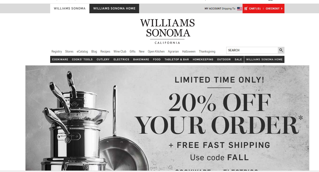 Williams sonoma coupon code