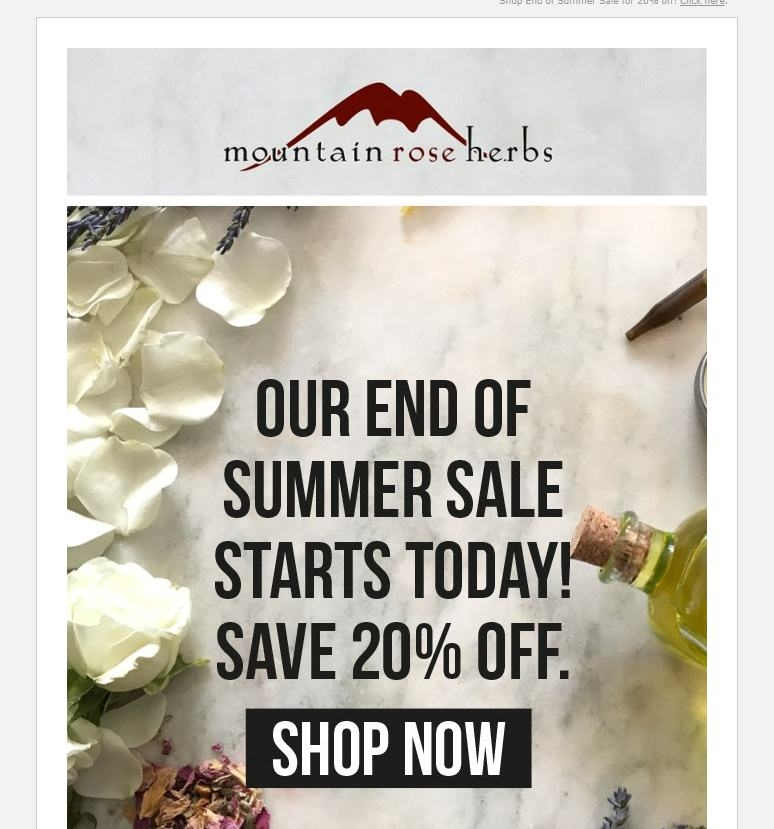 Mountain rose coupon code
