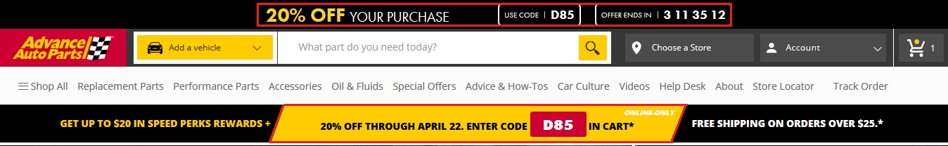 Advance Auto In Store Coupons >> Advance Auto 20 Off Code