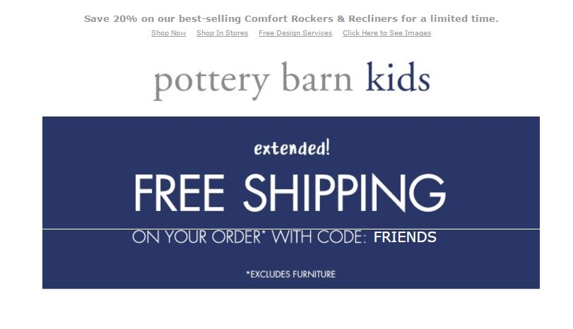 Potterybarn kids coupon code