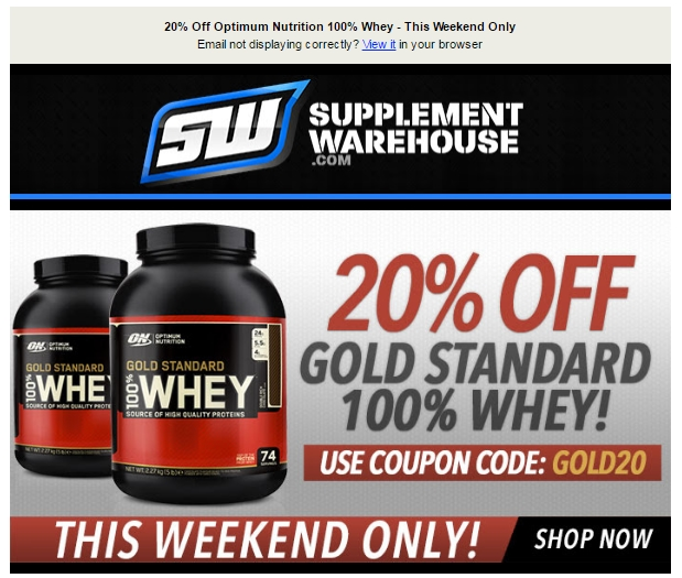 Nutrition Warehouse is a sports, bodybuilding, and vitamin supplement supplier only interested in giving their customers the best product available. You can buy online and have your order shipped directly to you, or visit one of their 40+ Australian locations to get advice from their staff who live and breath health and nutrition.