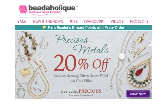 Beadaholique coupon codes