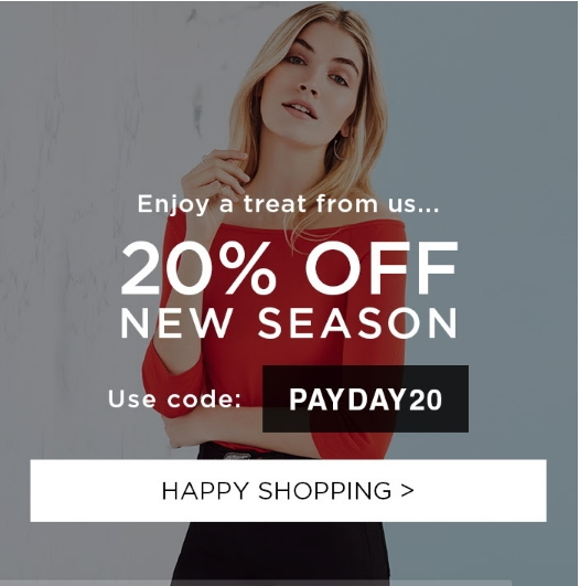 Get 20% Off for a limited time only with our Dorothy Perkins Discount Codes. Discover 14 Dorothy Perkins Voucher Codes tested in December - Live More, Spend Less™.