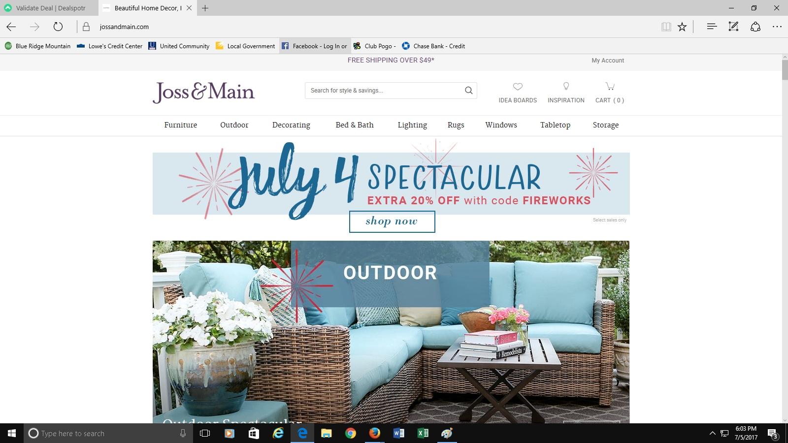 Joss and main coupon 2018