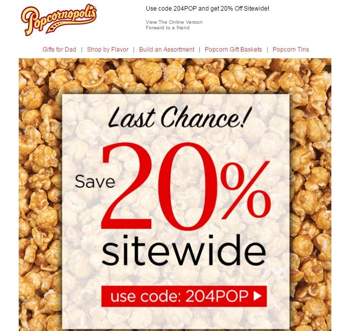 Popcornopolis coupon code