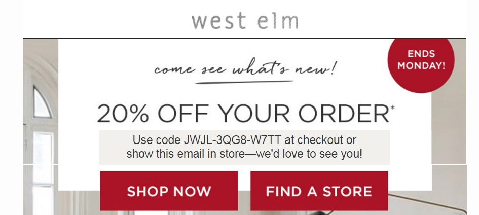 Westelm coupon code