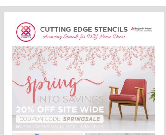 Cutting Edge Stencils Promo Codes for December Save 10% w/ 9 active Cutting Edge Stencils Promo Codes and Sales. Today's best download-free-carlos.tk Coupon Code: 10% Off Your Order at Cutting Edge Stencils (Site-wide). Get crowdsourced + verified coupons at Dealspotr.5/5(6).