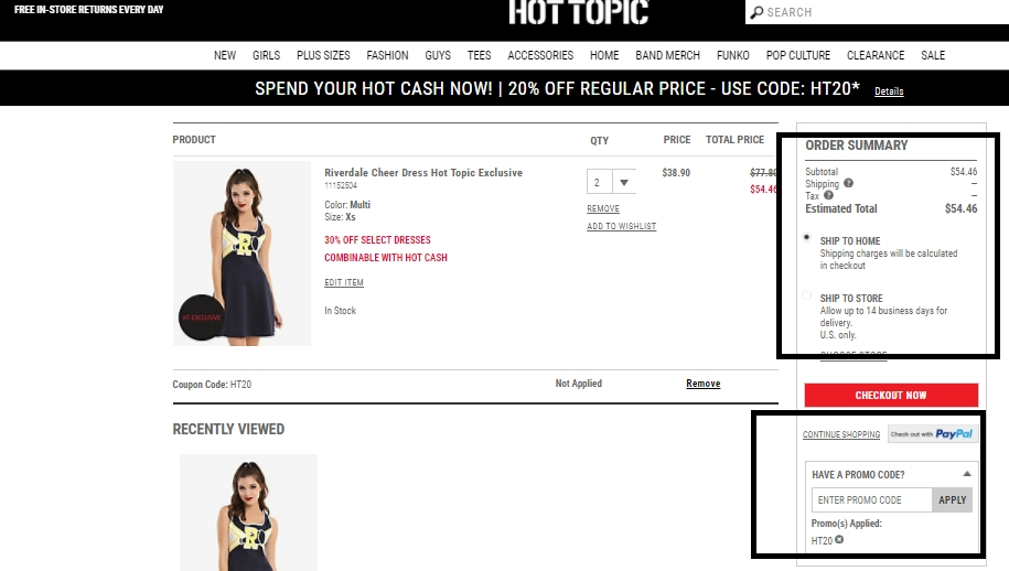 Hot topic coupon code