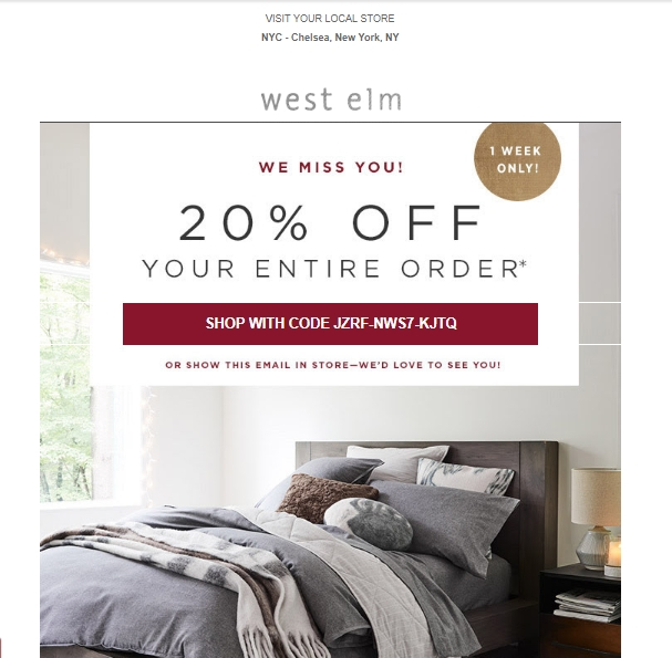 West elm coupon code 2018