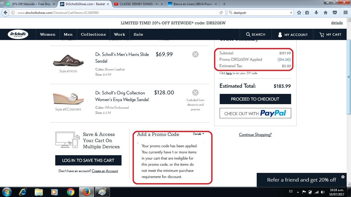 Dr scholls coupon code