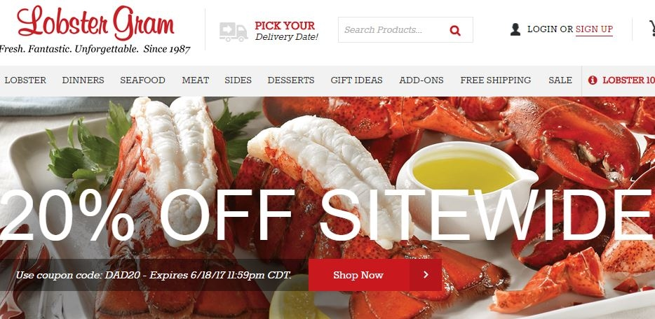 Lobster gram discount coupons