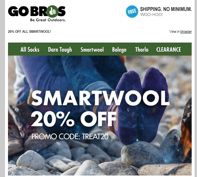 Today we offer you 4 SmartWool Promo Codes and 29 deals to get the biggest discount. All coupons and promo codes are time limited. Grab the chance for a huge saving before it's gone. Apply the SmartWool Promo Code at check out to get the discount immediately. Don't forget to try all the SmartWool Promo Codes to get the biggest discount.