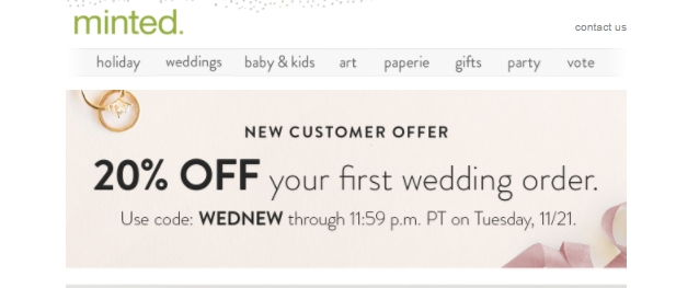 Minted only prints on thick, luxurious stocks, so the quality of your paper products are guaranteed. Keep up with what your favorite Minted designers are doing on the Minted blog. Greet unbeatable savings when you add Minted coupon codes to your next greeting card order/5(4).