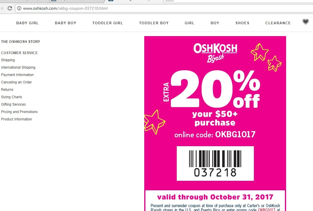 image relating to Osh Coupons Printable identified as Osh kosh 25 off coupon printable : Disney printable coupon codes