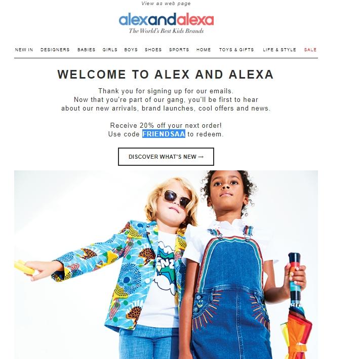 Alexandalexa coupon code uk