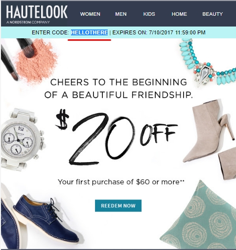 Hautelook coupon code