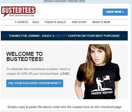 Busted tees coupon code