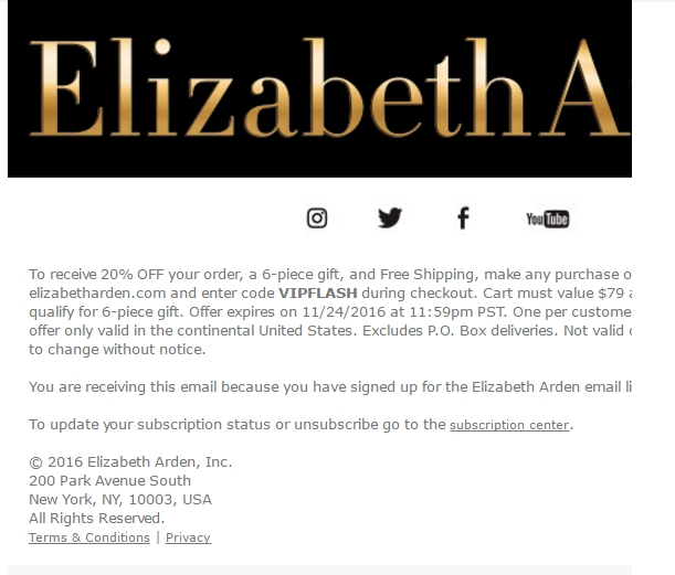 Elizabeth Arden Spa Coupon