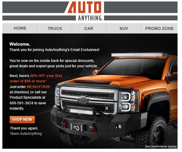 Autoanything coupon f150