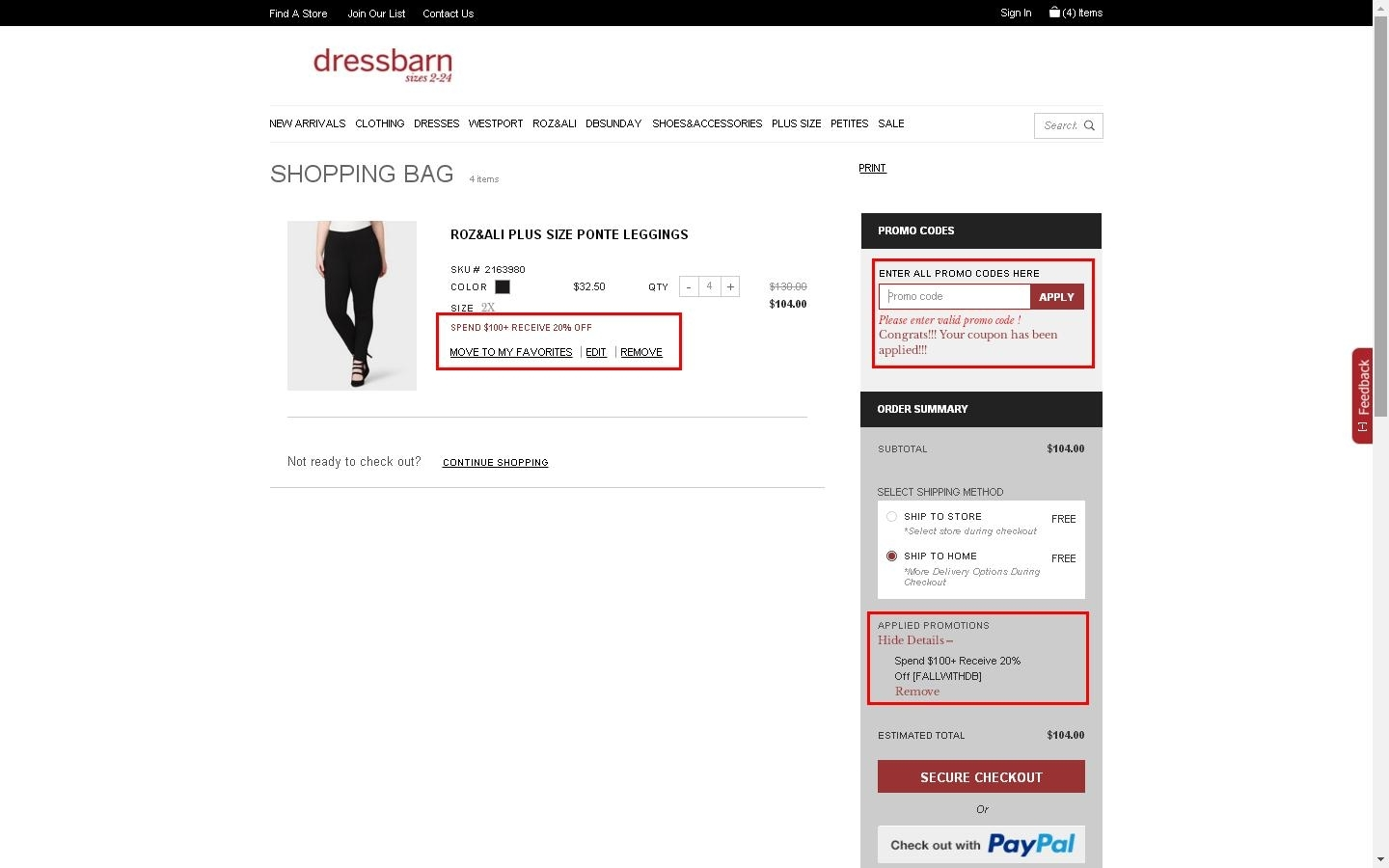 These Dressbarn promo codes have expired but may still work.