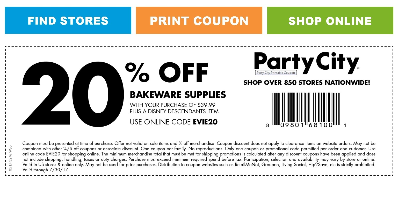 image regarding Party City Coupons Printable named Occasion metropolis discount coupons 10 off 30 : Boulevard suzuki coupon
