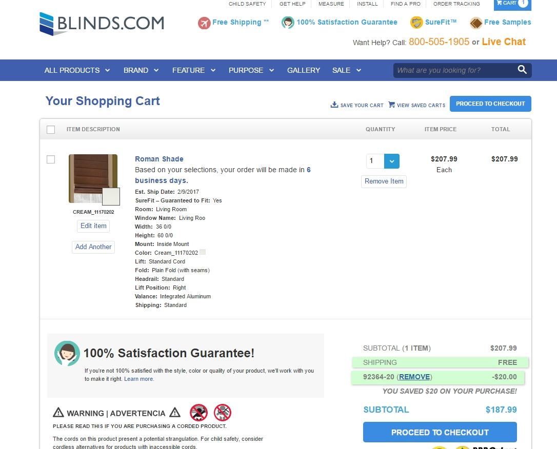Discount coupons for blinds.com