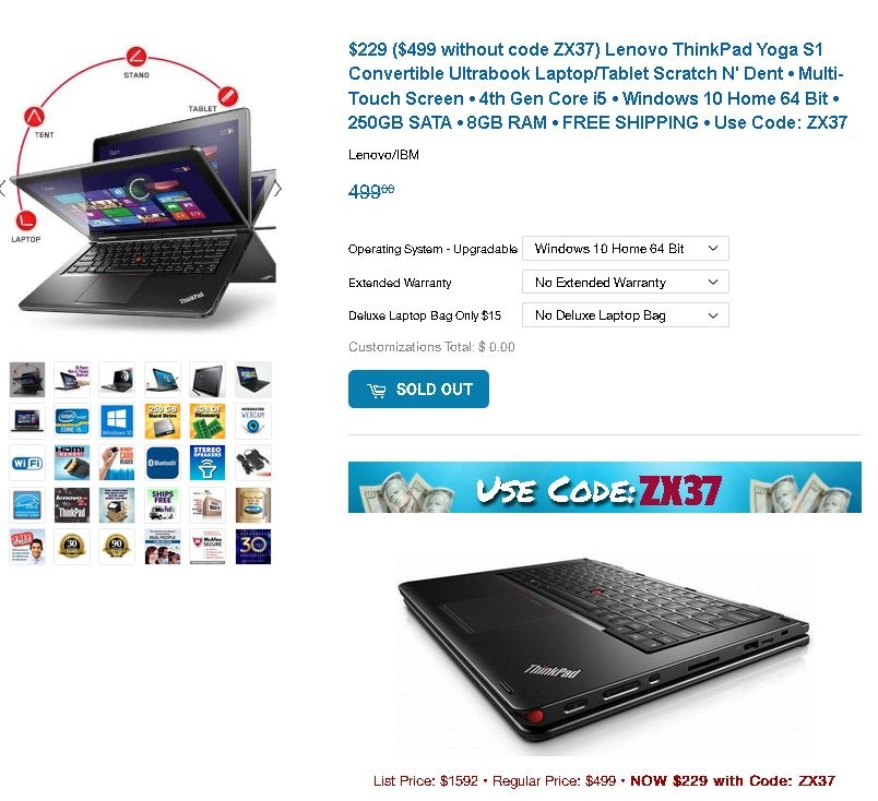 Lenovo t450s coupon code
