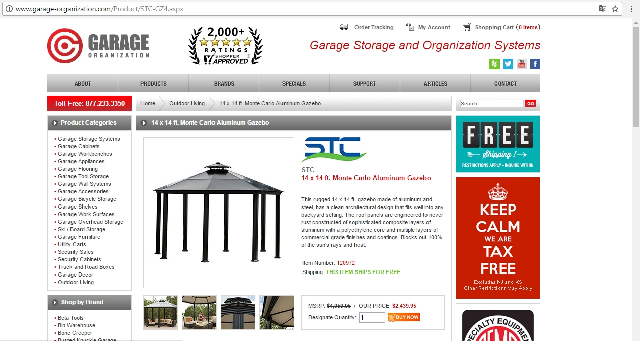 Apply the Garage Organization Coupon at check out to get the discount immediately. Don't forget to try all the Garage Organization Coupons to get the biggest discount. To give the most up-to-date Garage Organization Coupons, our dedicated editors put great effort to update the discount codes and deals every day through different channels.